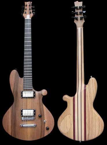 specificaties overzicht van de Custom-1 elektrische gitaar