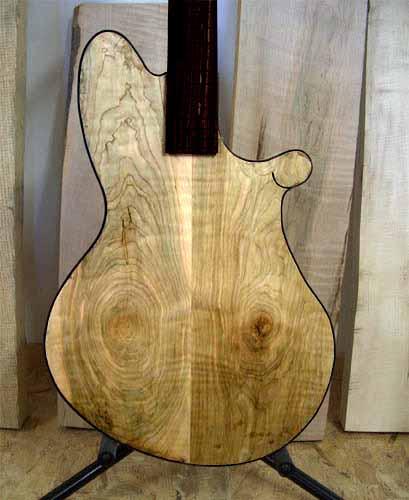 eerste www model voor de Custom-1 elektrische gitaar in 2006