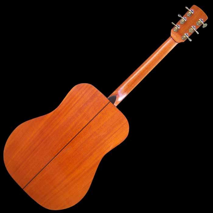 D-style akoestische gitaar achterkant