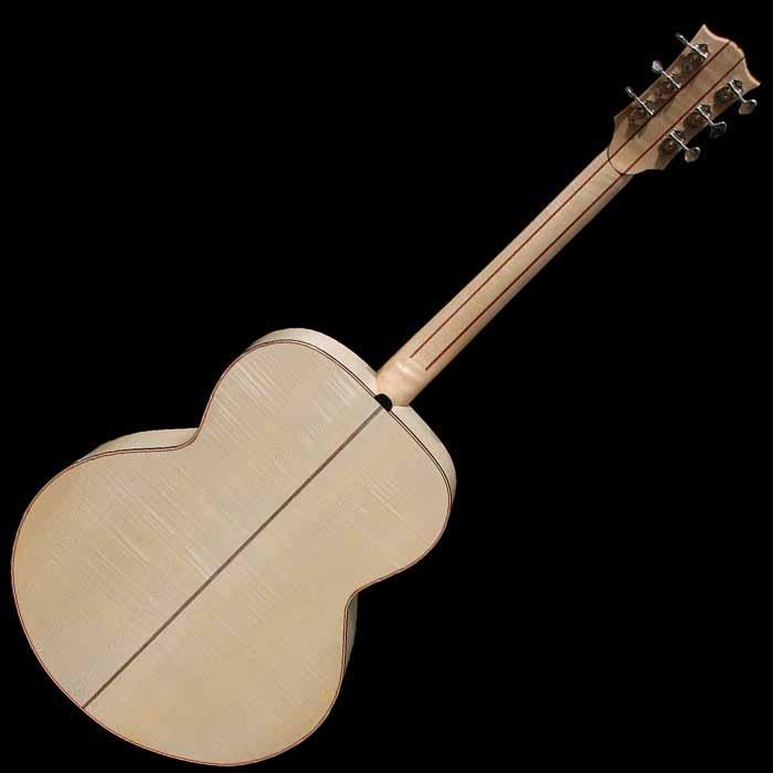J-style akoestische gitaar achterkant