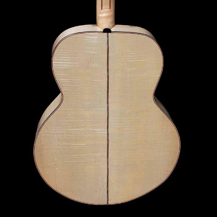 J-style akoestische gitaar body achterkant