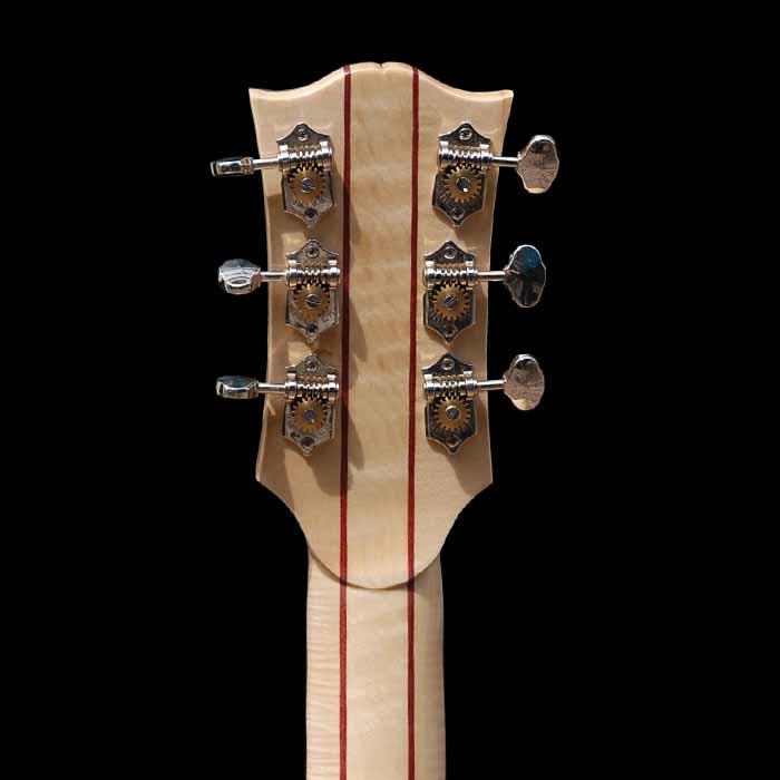 J-style akoestische gitaar kop achterkant