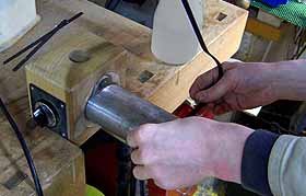 het buigen van de rosewood binding