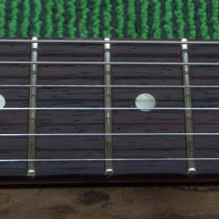 close up detail van de nieuwe fretten