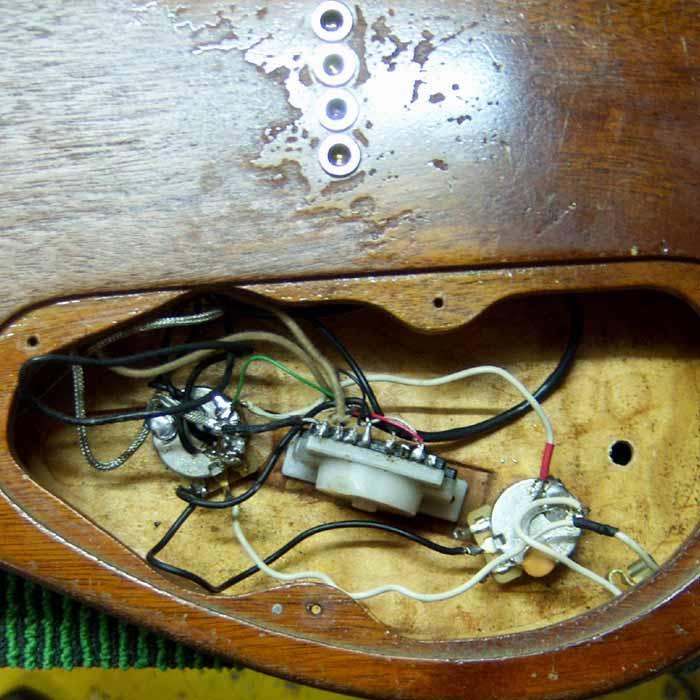 oude bedrading van de elektrische gitaar